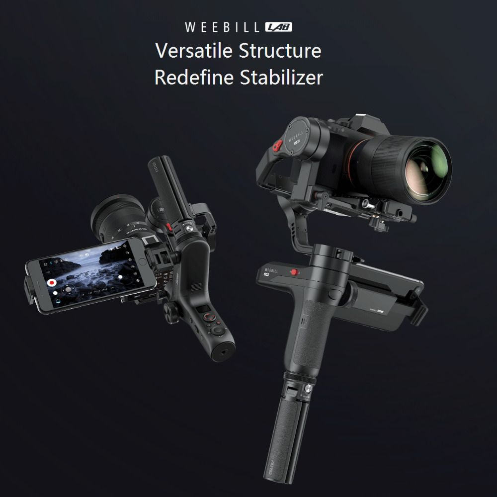 ZHIYUN Weebill LAB 3 Axis Handheld Gimbal Mirrorless Camera Stabilizer Handheld Gimbal for Sony A7R3 A7S2 A7M3 A6300 A6500 GH5