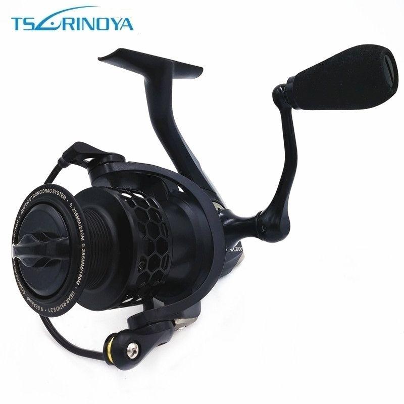 Tsurinoya Saltwater <font><b>Spinning</b></font> Fishing Reel 9BB Speed Ratio 5.2:1 NA 2000 3000 4000 5000 Aluminum Spool Carp Fishing Reel