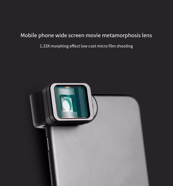 Gruppe Vertikale Universal Clip 1.33X Verformung Widescreen Telefon Objektiv für iPhone Android Samsung, HTC, LG, nokia Telefon objektiv r60