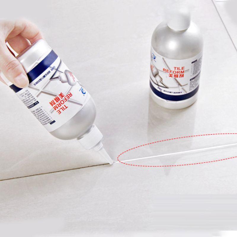 Mastic de coulis époxyde de colle de réparation de tuile de 280ml pour la réparation imperméable d'écart de couture de plancher restaurer l'aspect des lignes de coulis de tuile