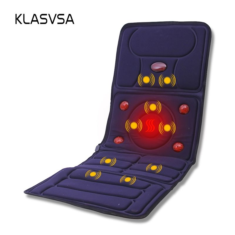 KLASVSA Electric Vibrator Massager Mattress Far-Infrared Heating Therapy Neck <font><b>Back</b></font> Massage Relaxation Bed Vibrador Health Care