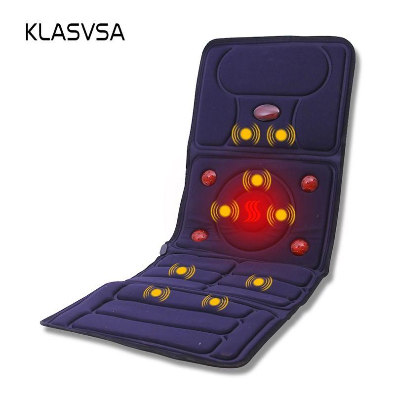KLASVSA Electric Vibrator <font><b>Massager</b></font> Mattress Far-Infrared Heating Therapy Neck Back Massage Relaxation Bed Vibrador Health Care