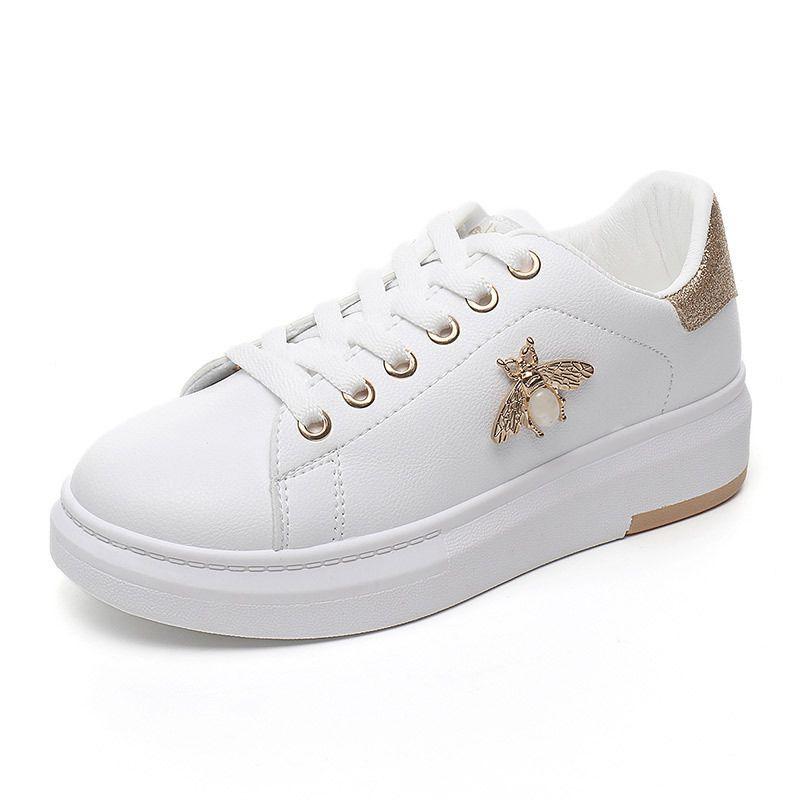 Femmes chaussures décontractées 2018 automne femmes baskets mode respirant PU cuir plate-forme blanc femmes chaussures doux chaussures