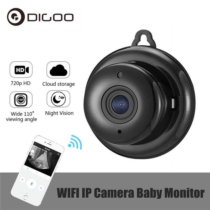 DIGOO DG-MYQ 2.1mm Lens 720P Wireless Mini WIFI Night Vision Smart Home Security IP Camera <font><b>Onvif</b></font> Monitor Baby Monitor