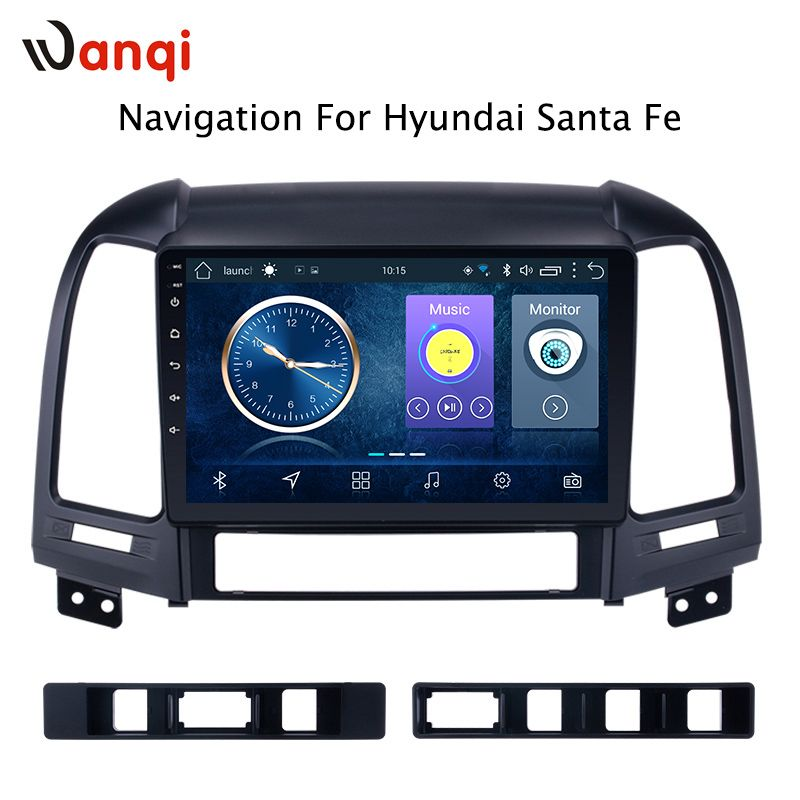Android 8.1 9 zoll Auto Multimedia GPS 2GB 32GB Radio Stereo Für Hyundai Santa Fe Tucson 2005-2012 auto Video Navigation