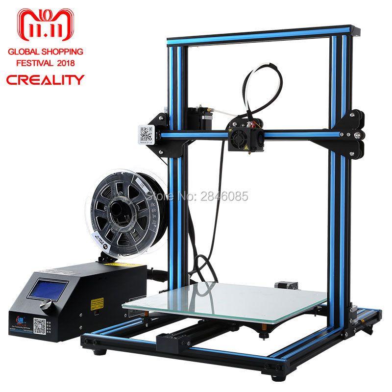 Cheap Creality CR-10 3D Printer Large Printing Size 300*300*400mm Semi DIY 3D Printer Kit Aluminum Heated bed Free Filament Tool