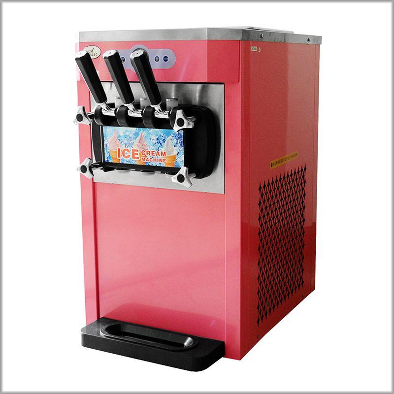 XEOLEO Mini 3 Aromen eis maker 1200 W Softeis maschine 12L/H Grün/Rosa Joghurt eis R22