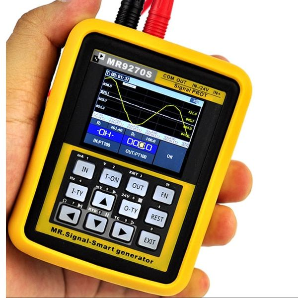 MR9270S 4-20mA Signal Generator Calibration Current Voltage PT100 Thermocouple Pressure Transmitter Logger PID Frequency