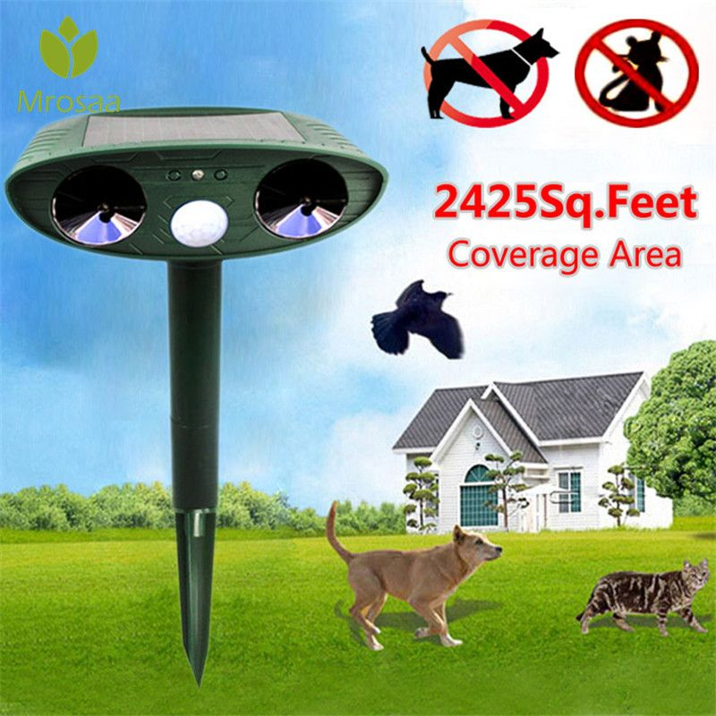 Garten Repellents Ultraschall Solar Power Tier Dispeller Outdoor Garten Tier Scarer Katze Hund Repeller Pest Control Produkte