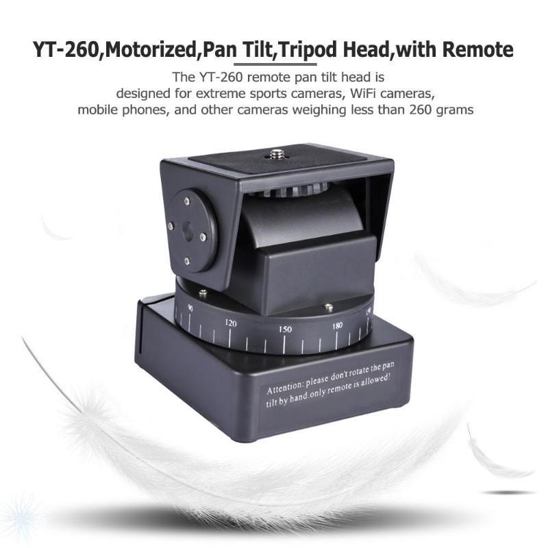 Tête de trépied à inclinaison panoramique motorisée ALLOET YT-260 avec télécommande pour caméra pour Gopro Hero Yi Sony QX1L QX10 QX30 QX100
