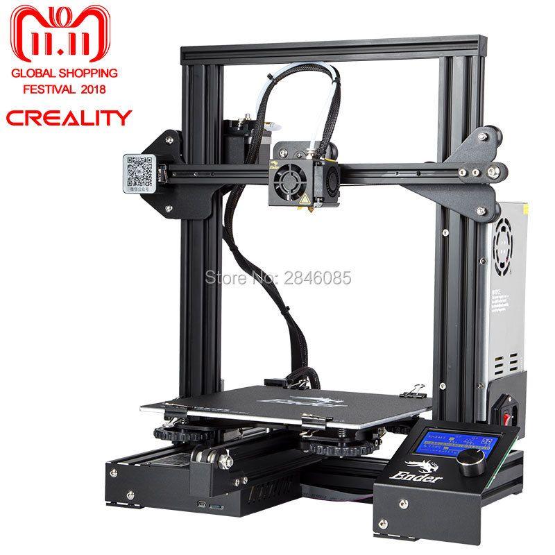 Cheap 3D Printer Creality 3D New Ender-3 Large Print Size 220*220*250mm Metal 3D Printer DIY Super Prusa i3 Upgrade kit