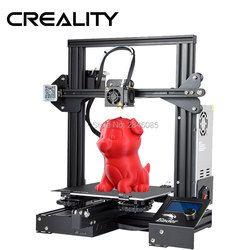 Neueste Ender-3 Creality 3D Drucker DIY Kit V-slot prusa I3 Upgrade Lebenslauf Power Off Max Temp 110C