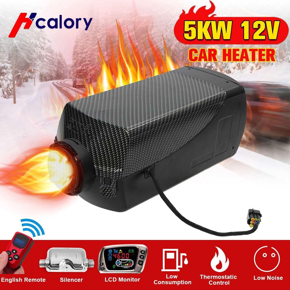 Auto Heizung 5KW 12 V Air Diesel Heizung Standheizung Mit Fernbedienung LCD Monitor Für RV, wohnmobil Anhänger, Lkw, Boote