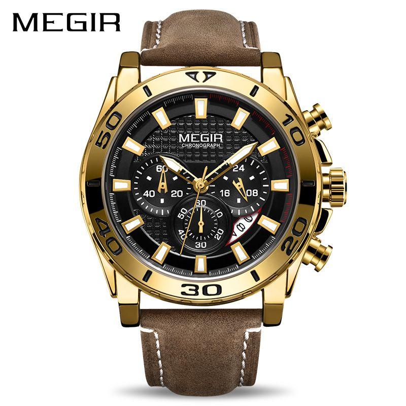 Relojes 2019 MEGIR Watch Men Fashion Sport Quartz Clock Mens Watches Top Brand Luxury Waterproof Watch Hour Relogio Masculino