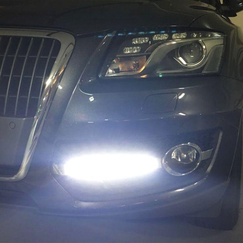 2 teile/satz Auto Styling DRL ABS Front Stoßstange Tagfahrlicht Nebel Licht Abdeckungen Lampe Masken Fit Für Audi Q5 2009-2013