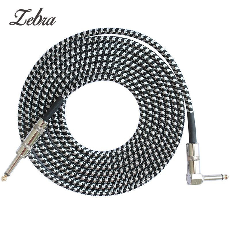 Zebra 6.5mm Jack Audio Cable Professional Noise Free 3 Meters Guitar Cables for Guitar Mixer Amplifier Bass Effect pedal 6.35 mm