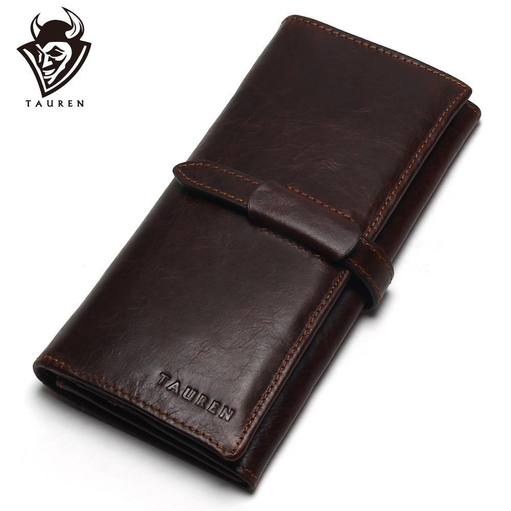 Nouvelle marque de luxe 100% Top véritable cuir de vachette haute qualité hommes Long portefeuille porte-monnaie Vintage Designer mâle Carteira portefeuilles