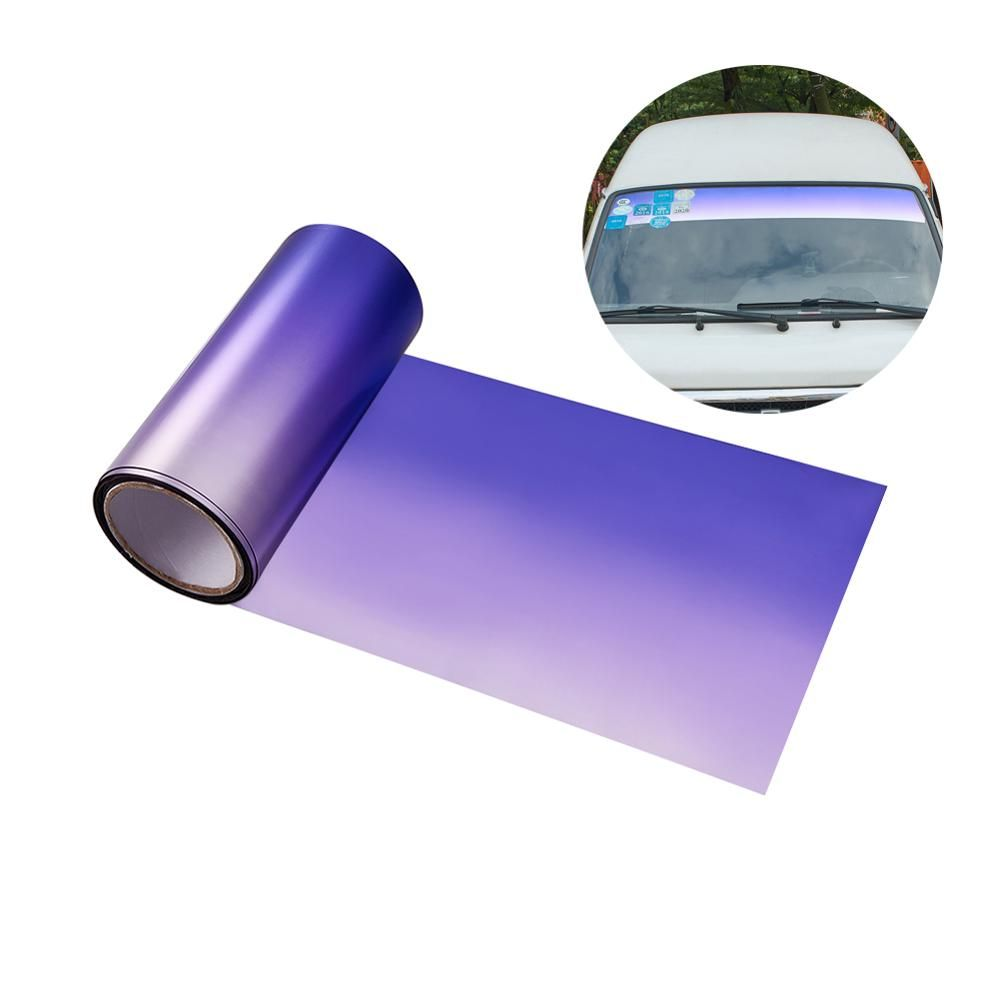 AUMOAHLL Front Windshield Solar Protection Gradient Purple Car Window Foils UV Protection