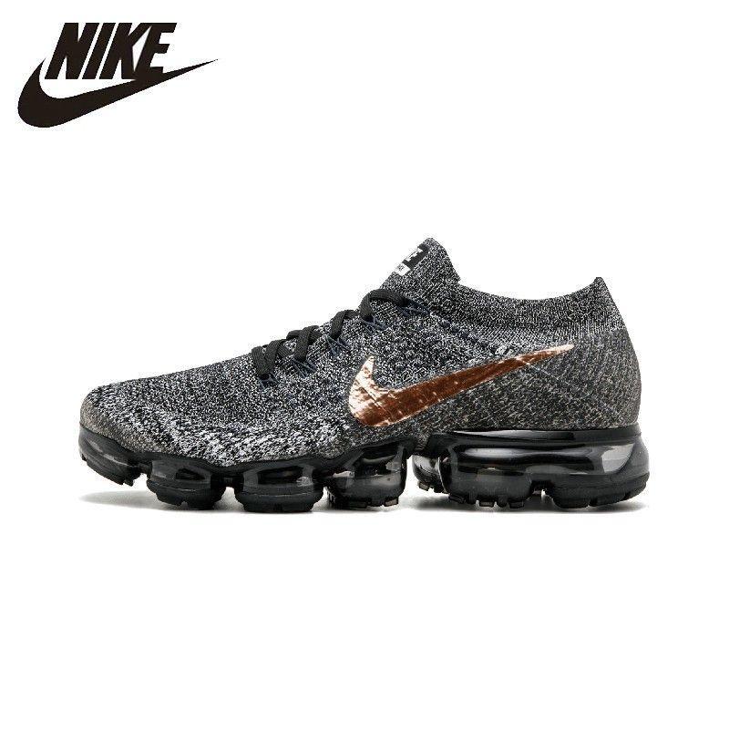 Nike AIR VAPORMAX FLYKNIT Atmungs männer Original Laufschuhe Dark Grau Nicht-slip Outdoor Sport Turnschuhe #849558 -010