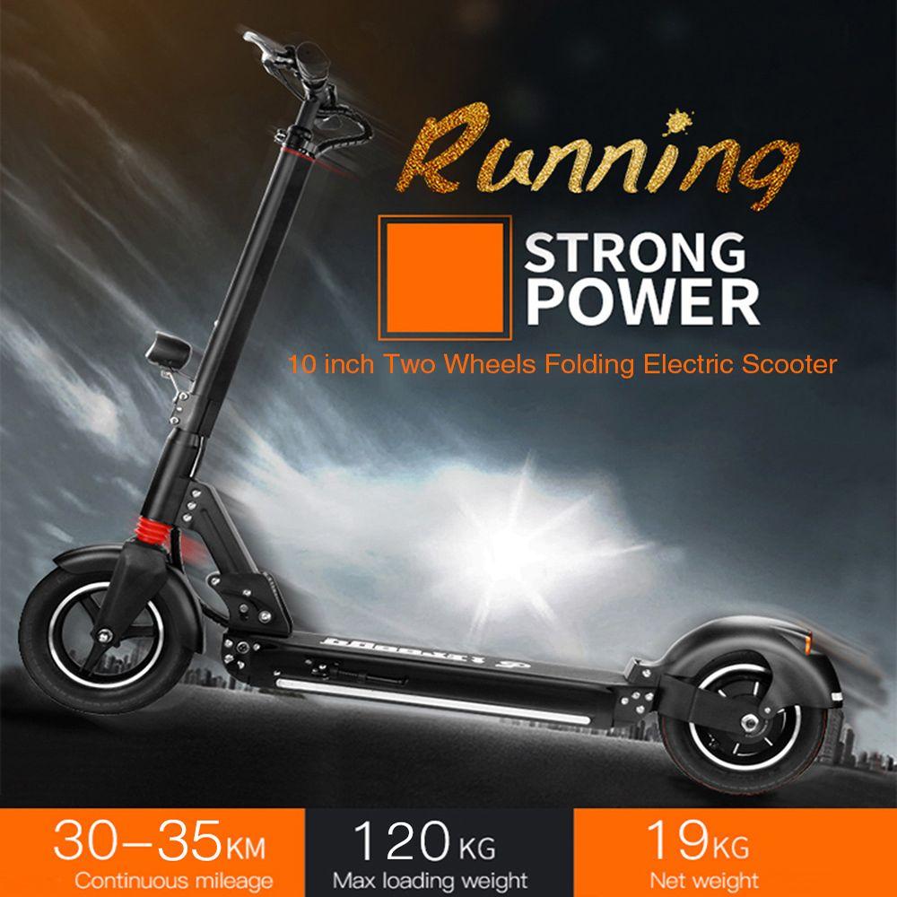 Falten Elektrische Roller 10 Zoll Zwei Räder Elektrische Roller 2.6Ah Batterie LongBoard Skateboard Tretroller Freies Verschiffen