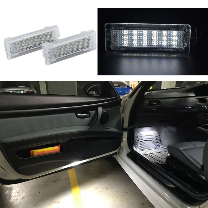 2x 18smd LED Door Interior Footwell Light Led courtesy light CAR Styling For BMW F01N/F02N/F03N F30 F31 F32 F34 F10LCI F11LCI