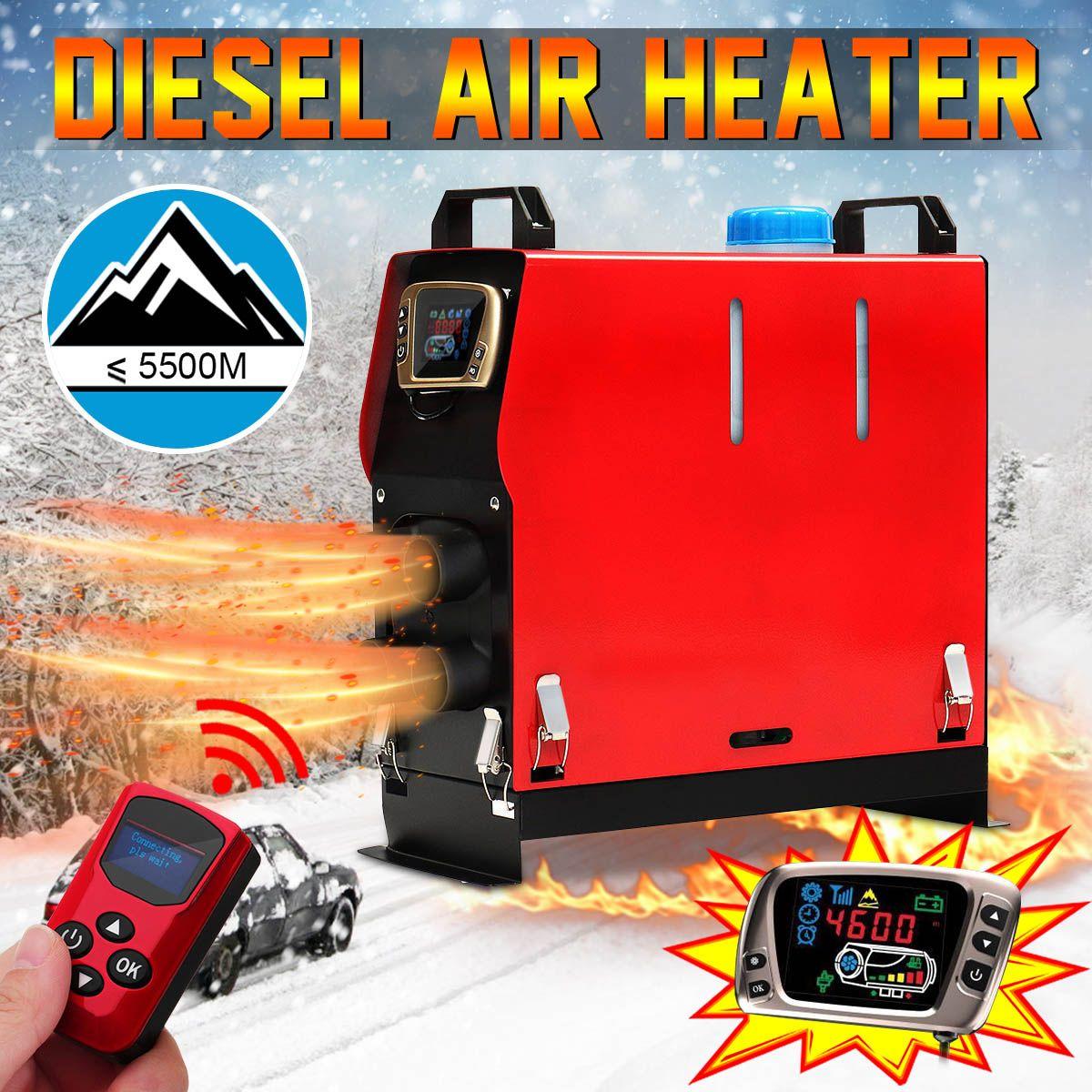 Abnehmbare 5KW 12 V Tragbare Heizung Alle in Einem Kraftstoff Air Parkplatz Wärmer + Goldene LCD Schalter + Enhlish Remote für Bus Lkw Boot Van