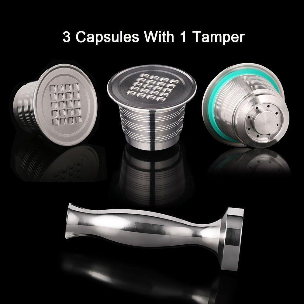 Capsules rechargeables Nespresso filtre à café réutilisable goutteur acier Nespresso Cafeteira Capsulas De café Recargables réutiliszables
