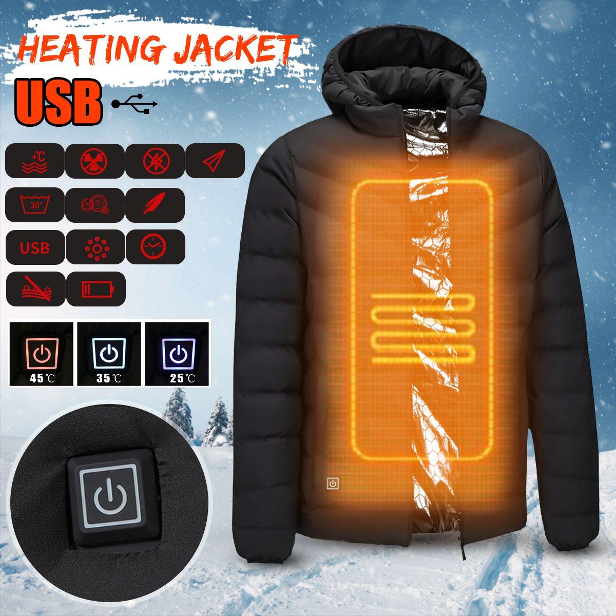 Herren Winter Beheizt Sicherheit Weste Jacke USB Mit Kapuze Arbeit Heizung Jacke Weste Mäntel Einstellbare Temperatur Control Sicherheit Kleidung