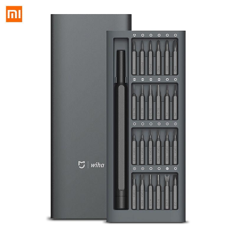 Original Xiaomi Mijia Wiha 24 en 1 Kit tournevis de précision 60hrc embouts magnétiques Xiaomi Kit maison outils de réparation Xiomi Mijia