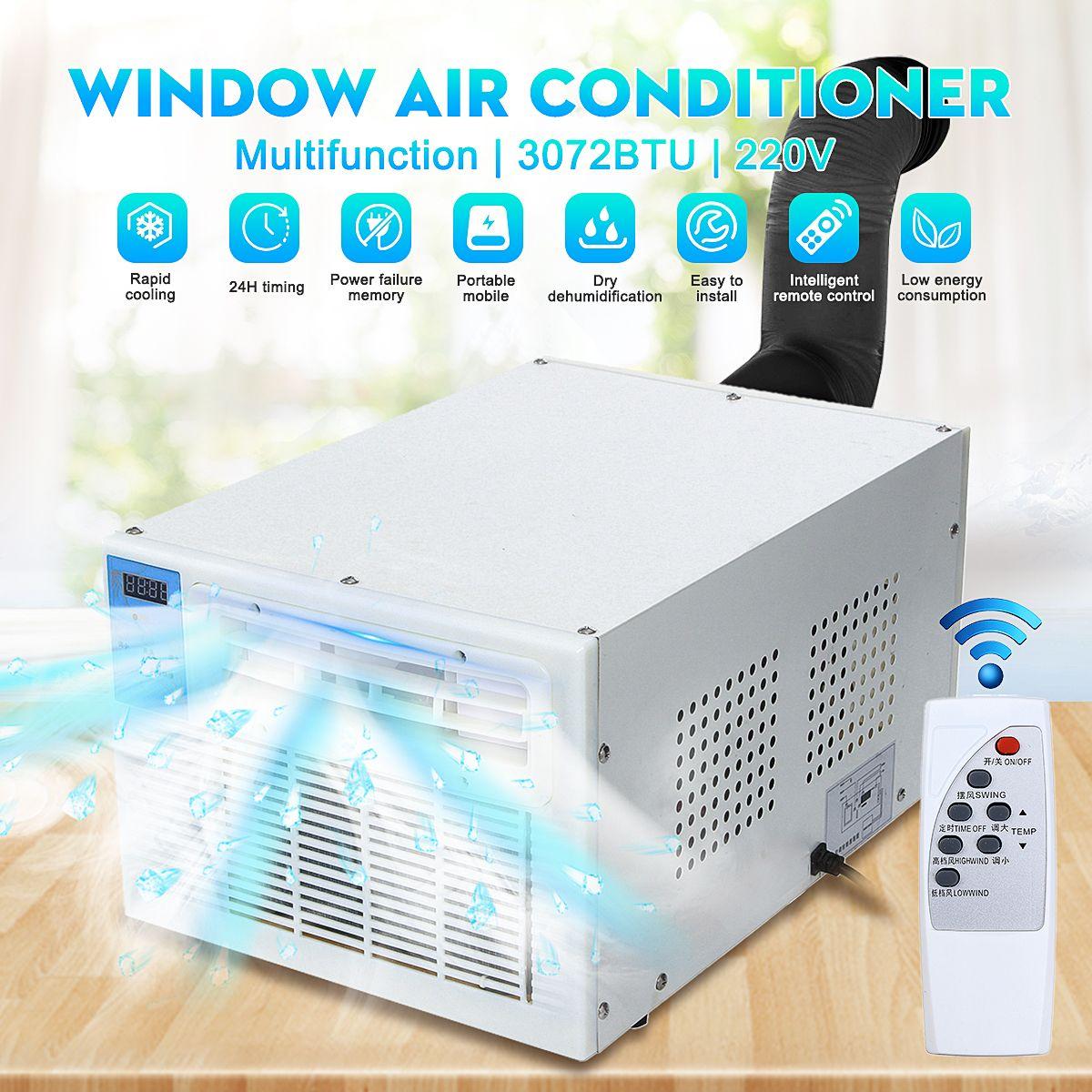 Neue 220 V 900 W IPX4 Klimaanlage Desktops Fenster Klimaanlage Mini Haushalt Luftkühler Klimaanlage Mit Fernbedienung control