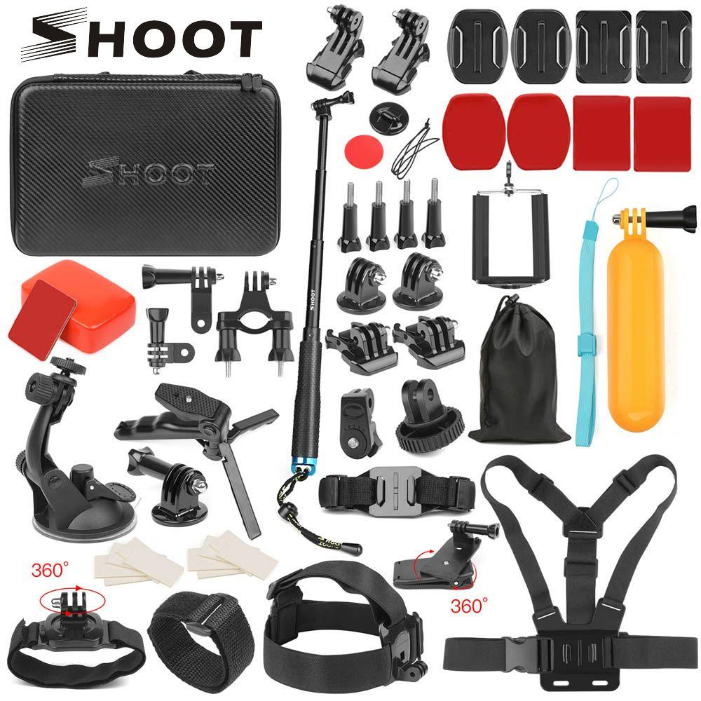 Accessoire caméra d'action pour GoPro Hero 7 6 5 4 noir Xiaomi Yi 4K Lite SJCAM SJ7 Eken H9 Go Pro monture pour Sony Nikon Set
