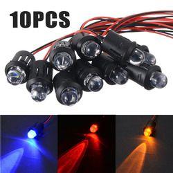 10 stücke Neue 12 v 10mm Pre-Wired LED Konstante Ultra Helle Wasser Klare Glühlampen Rot/Gelb /blau/Weiß