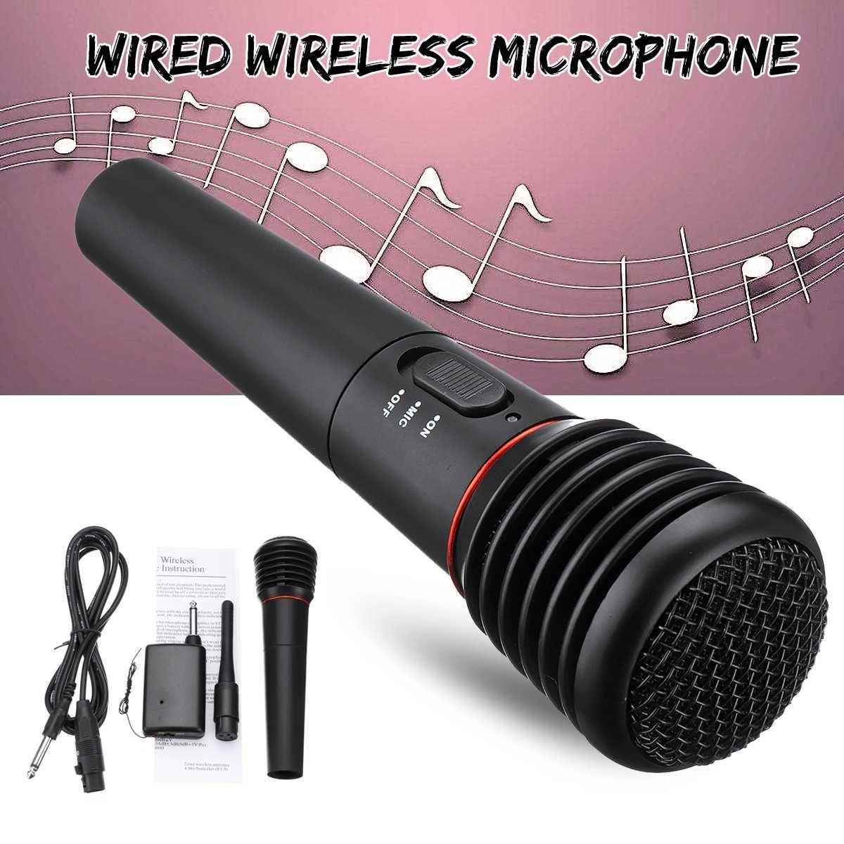 2in1 Berufs Wired Wireless Handheld Mikrofon Mic Dynamische Cordless Für KTV Karaoke Party Aufnahme Sprechen Bühne Geschenk