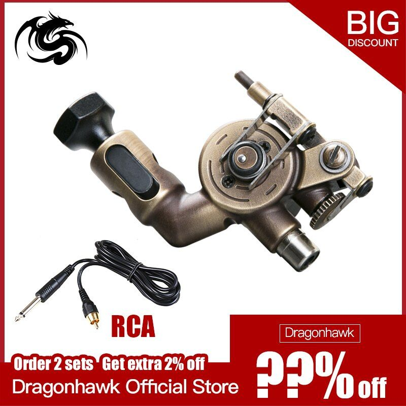 Newest Rotary Tattoo Machine Spring Tattoo Guns Strong Motor Tattoo Supply