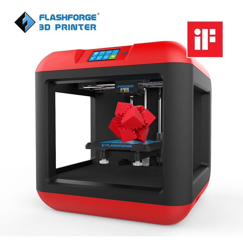 Extrudeuse simple de plate-forme amovible de nivellement automatique d'imprimante de Flashforge Finder 3D avec/1 filament de bobine PLA