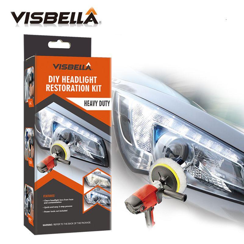 VISBELLA Kit de restauration de phares professionnels bricolage kit de réparation de soins de voiture pour phares