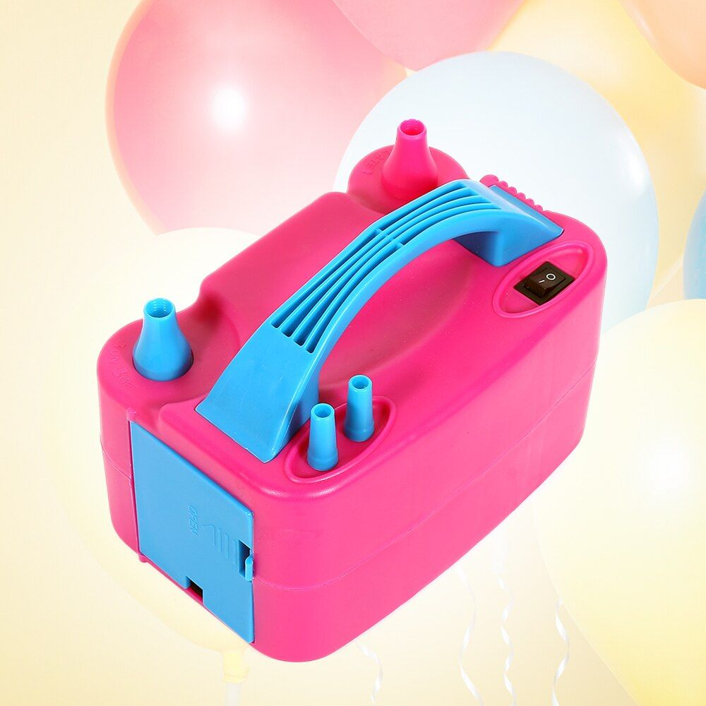 Pompe de gonflage de ballon électrique Portable ue/US Plug Double trou buse compresseur d'air gonflable pompe à ballon électrique souffleur d'air