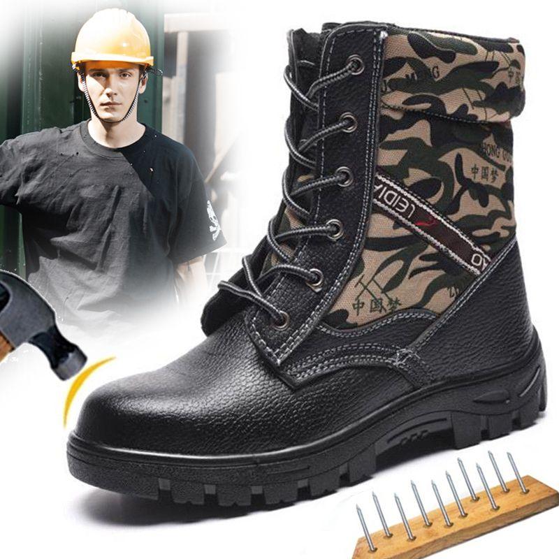 Große Größe Eur40-46 Kugelsichere Anti-smashing Stahl Kappe AtreGo Arbeit Sicherheit Schuhe Männer Schnee Stiefel Pelz-gefüttert Stiefel ankle Winter Schuhe