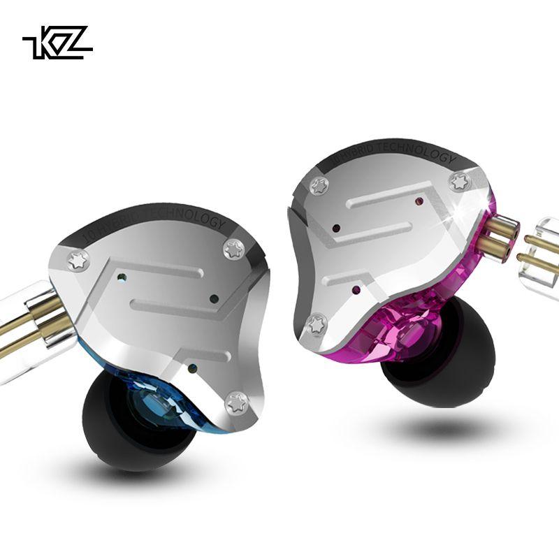 CCAKZ ZS10 Pro In Ohr Headset Metall 4ba + 1dd Hybrid 10 Einheiten Hifi Bass Ohren Monitor Ohrhörer Sport Noise cancelling 2pin