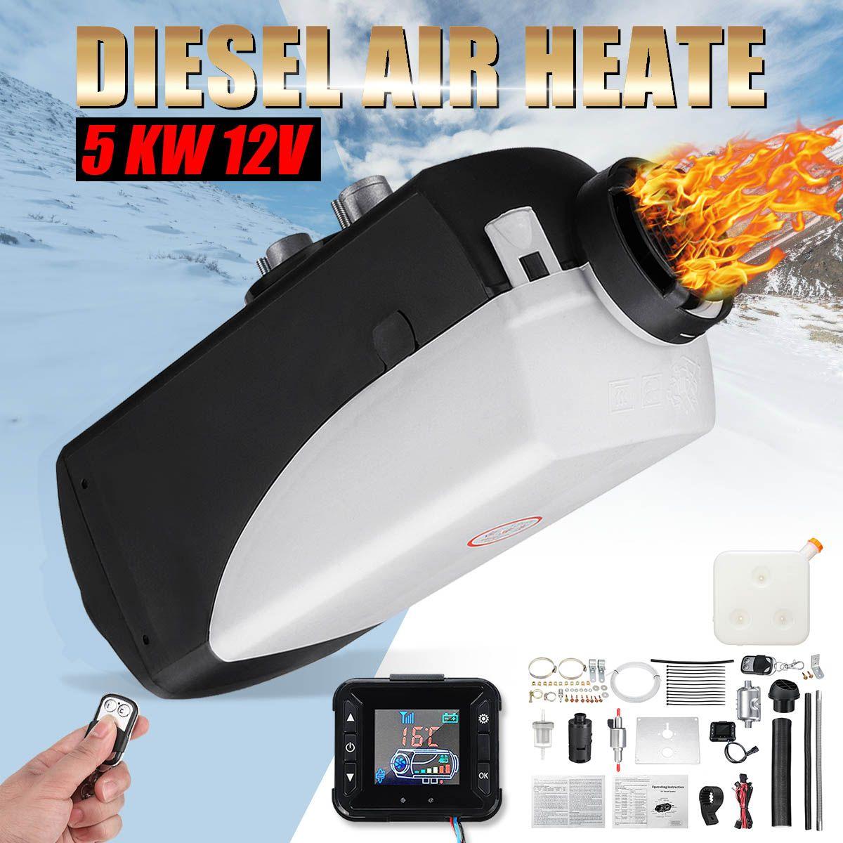 Auto Heizung 5KW 12 V Air Diesel Heizung Standheizung Mit Fernbedienung LCD Monitor für RV Wohnmobil Anhänger Lkw boote