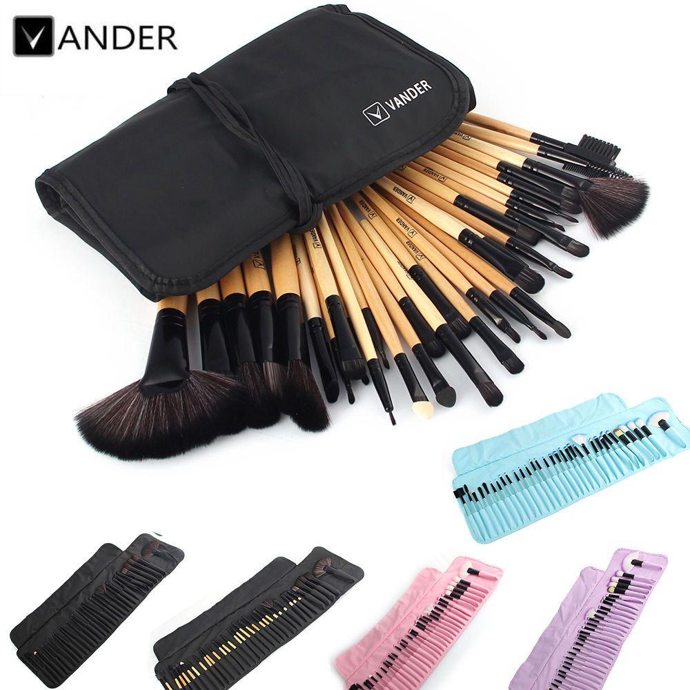 VANDER 32 pièces ensemble pinceau de maquillage professionnel fond de teint ombres à paupières rouge à lèvres poudre maquillage pinceaux outils w/sac pincel maquiagem