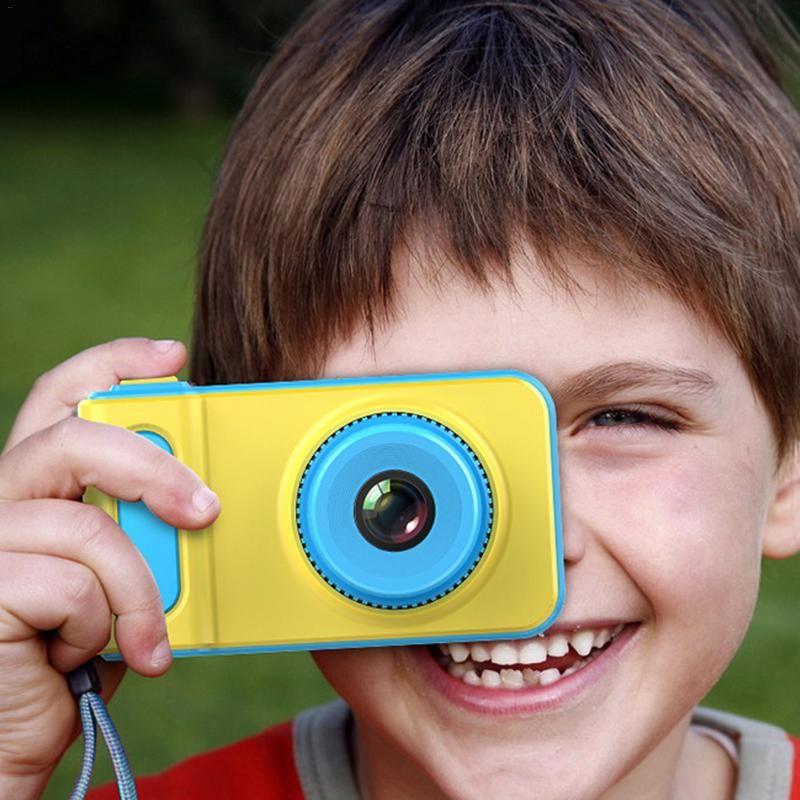 Children's Digital Camera Mini Camera Small SLR Sports Camera Toy Cartoon Game Photo Birthday Gift Pink Blue For Children