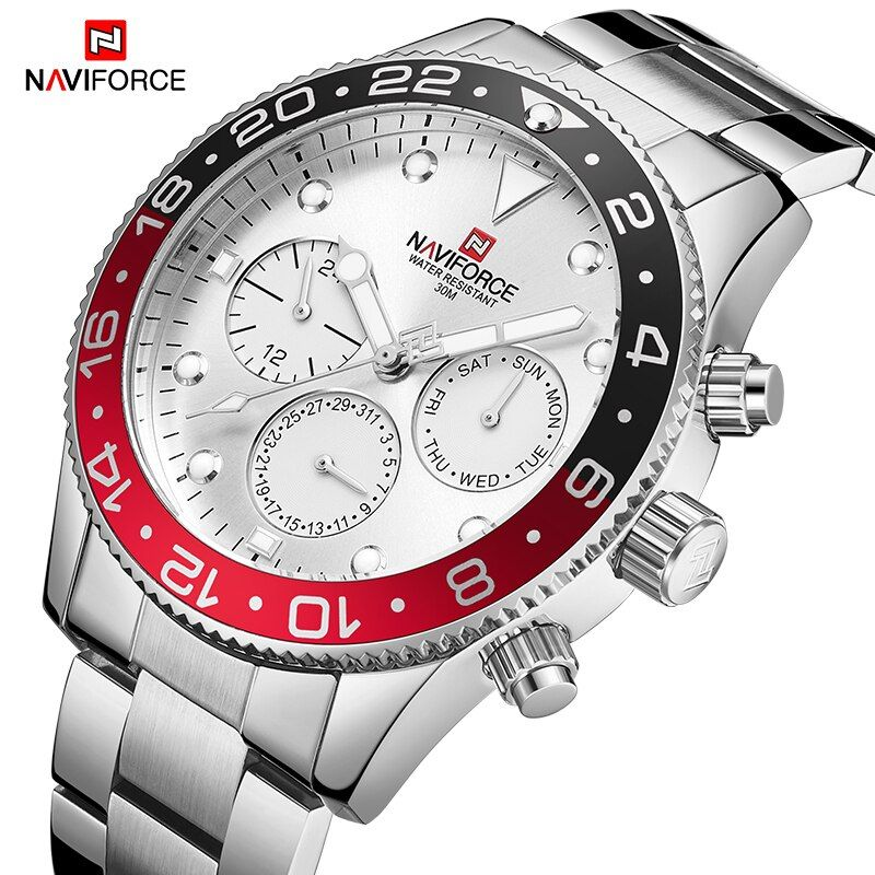 Luxury Top Brand NAVIFORCE Fashion Men Watch Quartz Analog Wrist Watch Sport Waterproof Steel Watch Male Clock Relogio Masculino