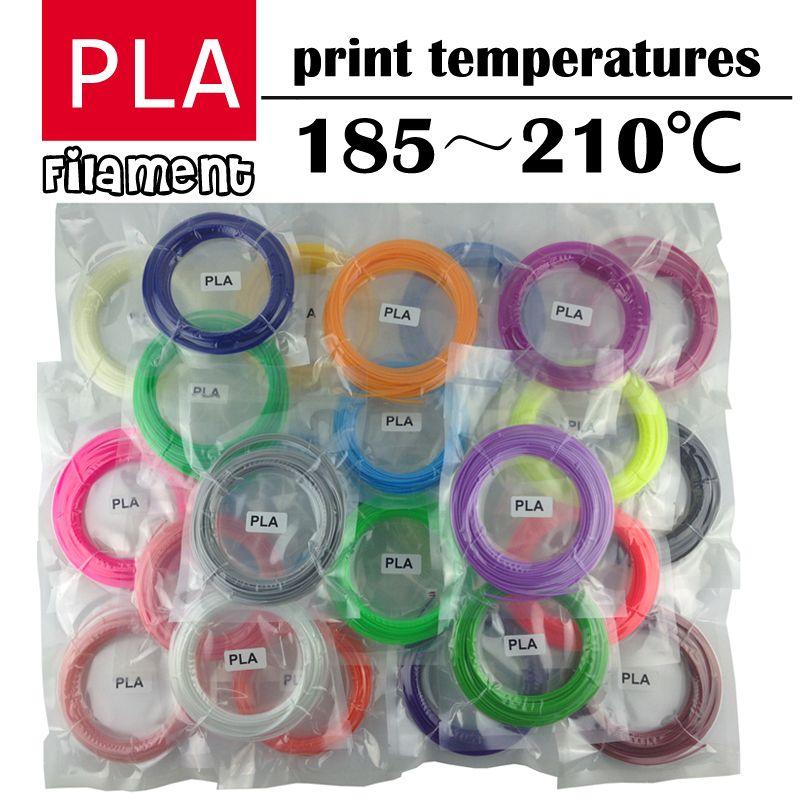 LIHUACHEN 3d stylo filament PLA 1.75mm 20/30 couleurs 3D imprimante Filament matériaux pour 3D impression stylo 10 couleurs 3D imprimante matériel