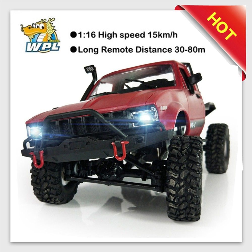 2018 new WPL C14 1:16 2ch 4wd Children RC Truck 2.4G Off-Road Truck Electric 15km/H Top Speed RTR/KIT Mini Racing Trucks Toy