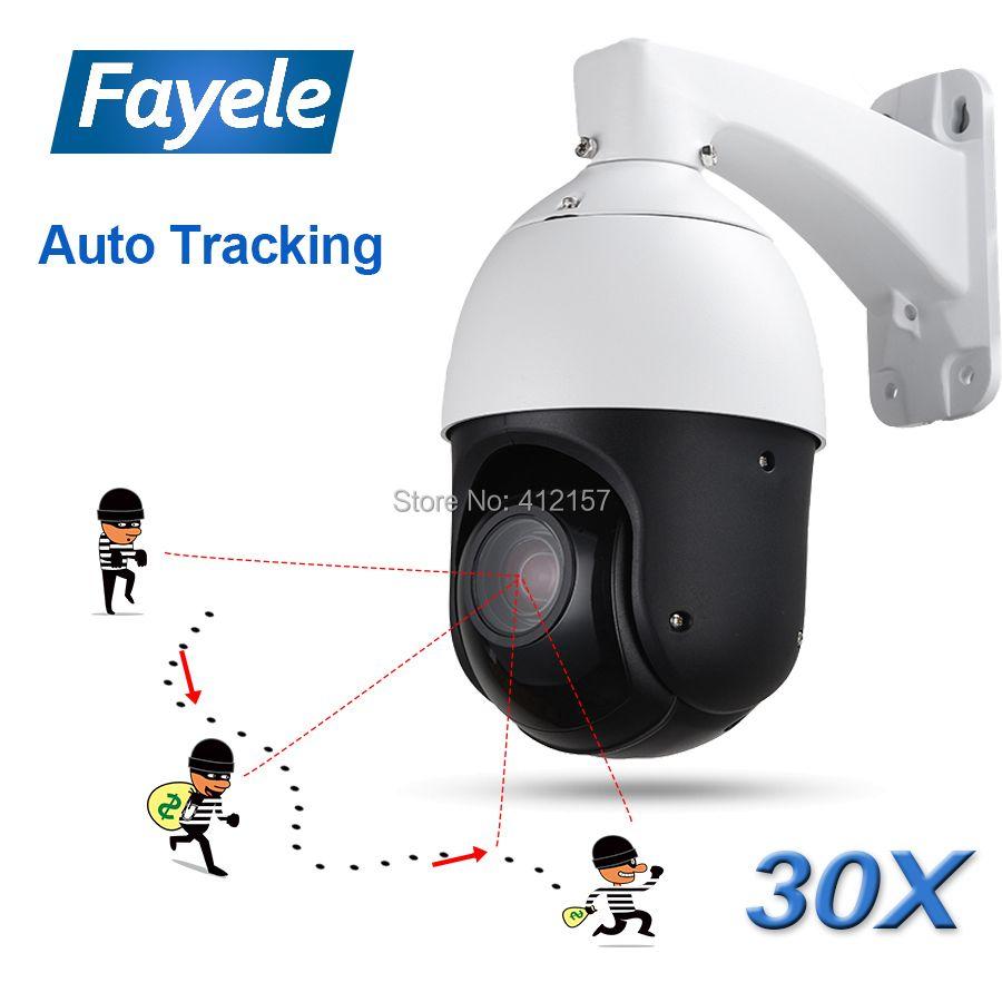 IP66 Outdoor CCTV 2MP Auto Tracking PTZ Kamera Person Erkennung Humanoiden Anerkennung H.265 IP Kamera IR Auto Tracker 30X ZOOM