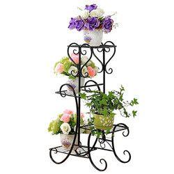 Planten Standaard Decorative Metal Outdoor Dekorasi Rak Balcone Varanda Plant Stand Rak Balkon Balkon Bunga Rak Besi