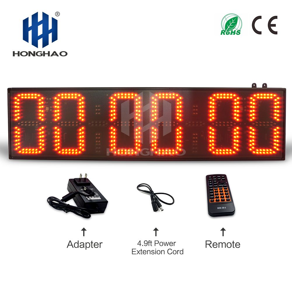 Honghao Große Outdoor Rennen Timer LED Countdown-Uhr Elektronische Digitale Stoppuhr Sport-Timer Marathon Timer