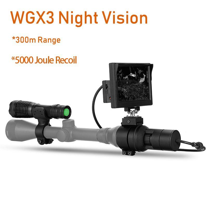 WILDGAMEPLUS WGX3 NV Umfang Kameras 5 zoll Display 300 M Reichweite bei voller dark Wald Zielfernrohr Kameras