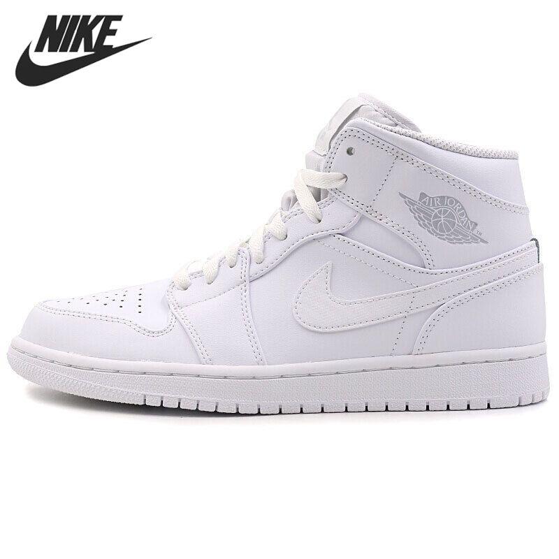 Nike Air Jordan 1 Mid AJ1 MITTE Ursprüngliche Neue Ankunft männer Basketball Schuhe Atmungsaktiv Bequeme Turnschuhe #554724